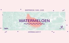Watermeloen Bootfeestje