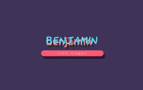 Benjamin stelt vragen