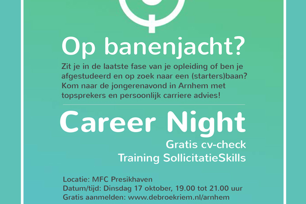 Career Night Broekriem Arnhem