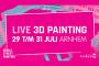 Word Street Painting Arnhem live 3d painting